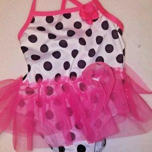 Lemon Kiss Baby Girl Polka Dot Tutu Swimsuit